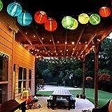 Eleganbello, Catena Luminosa, Striscia di Luci, 20 LED, 4,8m, Funzionano a Energia Solare, Lanterne Colorate, Lucine Decorative per Interno e Esterno