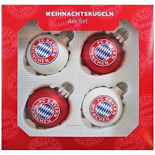 FC Bayern München Christbaumkugeln 4er-Set