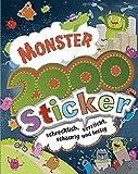 Monster 2000 Sticker: schrecklich, verrückt, schaurig und lustig