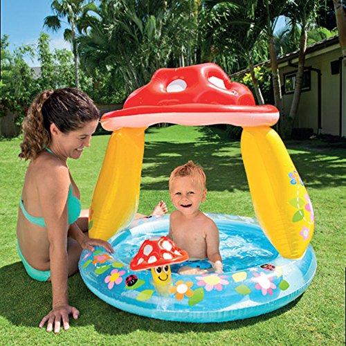 Nombre del producto: Piscina de bebé cubierto redondo de la setaEspecificaciones del producto: 102 × 89CM nivel de agua línea 13CM capacidad de almacenamiento 45 litrosColor del producto: como se muestraPeso del producto: 1.6KGCaracterísticas del pro...