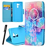 Huawei Honor 5C Wallet Case, We Love Case Leather Stand Flip Folio Card Holder Slot Great Pattern Cute Cover, Premium PU Protective Shock Absorption Proof Drop Defend Anti Scratch Shell for Huawei Honor 5C - Electroplate Rose Gold