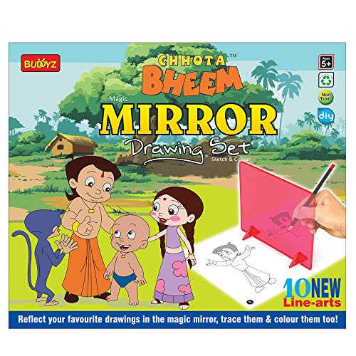 Buddyz Chhota Bheem DIY Mirror Drawing Set