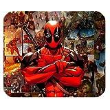 leonardcustom- Personalisierte Rechteck rutschfeste Gummi Mauspad Gaming Maus Pad/Badvorleger Marvel Superheld Deadpool–lcmpv152
