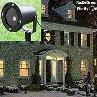 Auben Luci di Natale all'aperto Impermeabile del proiettore Star, Proiettore di elfo, Rosso verde movimento luci per giardino di casa, all'aperto, discoteca, Party, decorazioni di festa