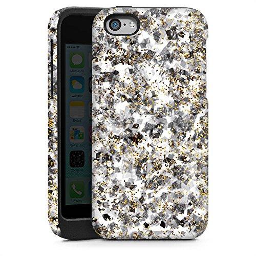 Apple iPhone 4 Housse Étui Silicone Coque Protection Motif Motif Paillettes Cas Tough brillant