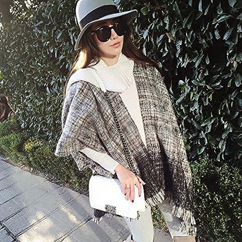 Donne caldo lana sciarpa nappa foulard della grata del capo doppio-scopo cappa , 1