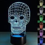 ba36c4d3accb17 YiaMIa 3D USB Licht 7 Farben Wechsel Berührung Taste Creative Design  Nachtlampe Amazing Illusion Dekoration Haushalt
