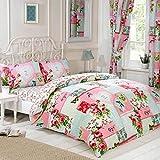 Just Contempo Patchwork juego de cama en una bolsa edredón juego, doble, color rosa, Rosa, matrimonio