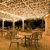 100 Leds 10M Outdoor Battery Fairy String Lights (Warm White) for Christmas Tree, Festive, Birthday, Party, Wedding