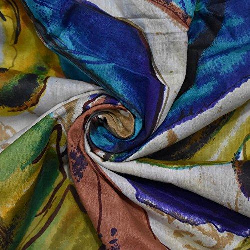 Multicolor Cotton Cambric Stoff Blatt gedruckt Nähen Vorhang 43