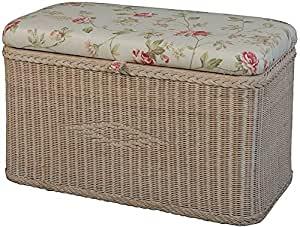 sitztruhe aus rattan truhenbank w schetruhe mit gepolsterten sitz in der farbe vintage. Black Bedroom Furniture Sets. Home Design Ideas