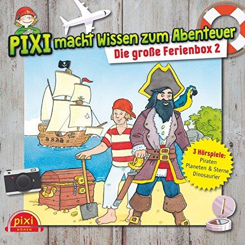 Preisvergleich Produktbild Pixi macht Wissen zum Abenteuer: Die große Ferienbox 2: Dinosaurier,  Piraten,  Sterne : 3 CDs (Pixi Wissen)
