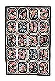 Nain Trading Kelim Soozani 183x122 Orientteppich Teppich Dunkelgrau/Rosa Handgewebt China