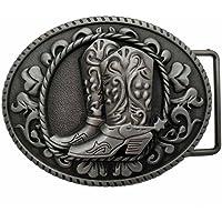 YONE Cowboy Spur Boots Western Rodeo Belt Buckle