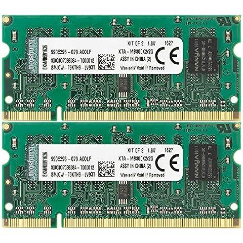 Kingston KTA-MB800K2/2G - 2GB 800MHz DDR2  Kit (2x1GB) memoria
