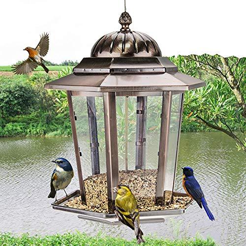 Comederos para pájaros al aire libre Alimentador del pájaro de la galjanoplastia...