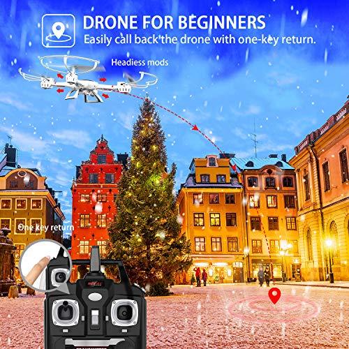 DBPOWER MJX X400W FPV Drohne mit WLAN Kamera Zurückkehrfunktion, Quadcopter mit Kopflosmodus für Kinder und Anfänger - 4