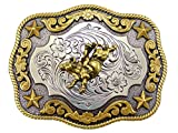 Nocona Antique Gold Bullrider Gürtelschnalle Western Buckle Cowboy USA