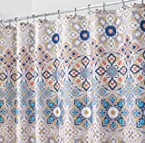 mDesign rideau de douche à motif médaillon indien – accessoire de salle de bain aux dimensions parfaites de: 183 cm x 183 cm – rideau de baignoire durable. couleur: brun