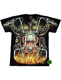 """T-Shirt Rock Chang """"Glow in the dark"""" Chang Heavy Metal Biker Tattoo Rocker Gothic (4021)"""
