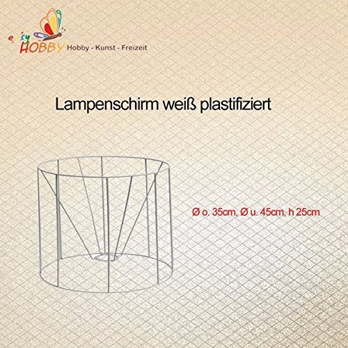 SMITS Lámpara Pantalla, Estructura Color Blanco plastifiziert, diámetro O. 35cm, diámetro y 45cm, h 25cm