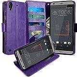 HTC Desire 530 Hülle, LK Luxus PU Leder Brieftasche Flip