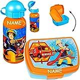 alles-meine.de GmbH 2 tlg. Set _ Lunchbox / Brotdose & Trinkflasche -  Feuerwehrmann Sam  - Incl..