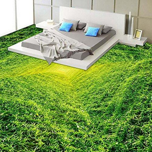Preisvergleich Produktbild Wapel Custom 3d Stereo SSD Boden von Gras geklebt im Schlafzimmer Bad Mall 2Fahrbahnen, selbstklebend Wallpaper 150 cm x 105 cm
