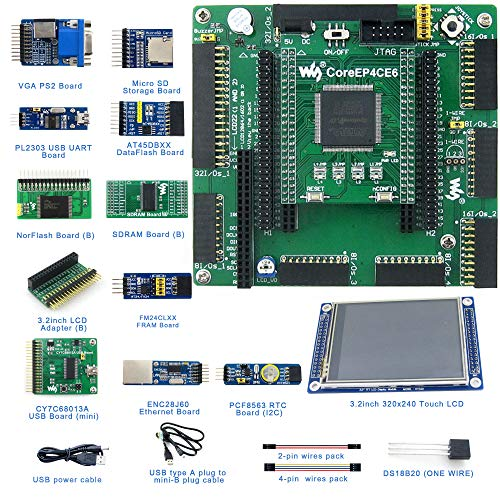 Designed for ALTERA Cyclone IV Series, Features the EP4CE6 Onboard, Open  Source Electronic Hardware EP4CE6 FPGA Development Board Kit, Uses With  Nios