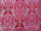 Minerva Crafts Barock Gewebe der Brokat Kleid Cerise Pink &