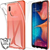 MP-MALL Case for Samsung Galaxy A20e + [1 x Tempered Glass Screen Protector], Soft Premium TPU Shock-Absorption Silicone…
