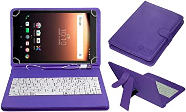 Acm Usb Keyboard Case for Alcatel A3 10 Tablet Cover Stand With Free Micro Usb Otg - Purple