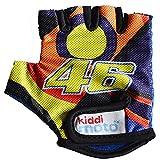 Kiddimoto GLV046M - Fahrrad Handschuhe Valentino Rossi VR46, Größe M (5-12 Jahre)