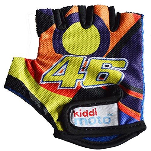 Kiddimoto GLV046S - Fahrrad Handschuhe Valentino Rossi VR46, Größe S (2-5 Jahre)