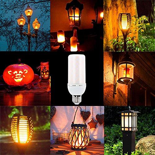 Locisne E27 bombillas de bombillas de efecto de llama de LED, atmósfera creativa de la vendimia iluminación de humor decorativa bombillas de parpadeo de LED simuladas cálidas blancas 3Mode