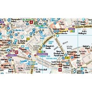 Londres, plano callejero plastificado. Escala 1:11.000/1:15.000. Borch.: Kew Gardens and Richmond/Heathrow/Gatwick