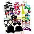54 er. Pack Party Foto Verkleidung Schnurrbart Lippen Brille Krawatte Hüten Photo Booth Props Set Hochzeit Partymitbringsel Zubehör