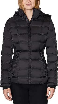 Nautica Women's Water-Resistant Puffer Jacket (Black, Medium)