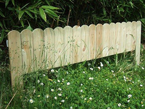 Galleria fotografica HILLHOUT 8711375132044Bordo Decorativo da piantare, Legno Naturale, 120x 1.2x 45cm