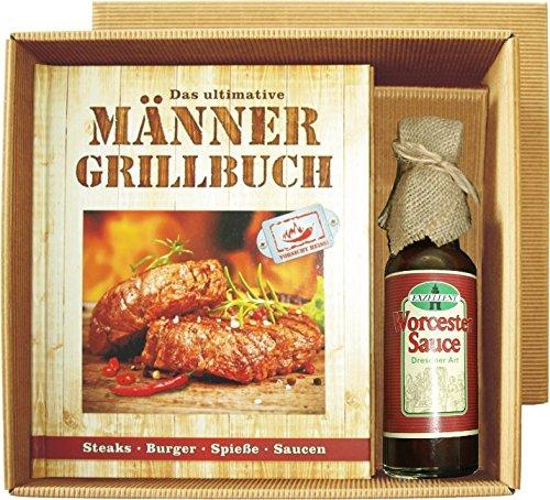 Männer Grill Profi Set's Männer Grillbuch Männergrillbuch (Männer Grillbuch mit Worcester sauce 22520)