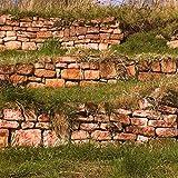 1 t Premium- Buntsandsteine Mauersteine mit Lieferung. Trockenmauersteine rot-beige-grünlich, lagerhaft, für besondere Natursteinmauern in Art einer Weinbergmauer Ruinenmauer Outdoorküche Gartenmauer
