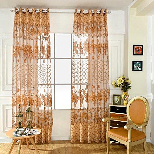 MORESAVE Floreale moderna Tulle Voile Porta tenda della finestra Pannello di Drape mantovane sciarpa Sheer