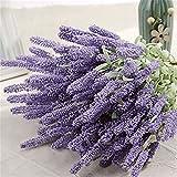 Nuohuilekeji 12-Köpfe-Bouquet, künstlicher Lavendel, künstliche Gartenpflanze, Heimwerken, Dekoration. , hellviolett, Einheitsgröße
