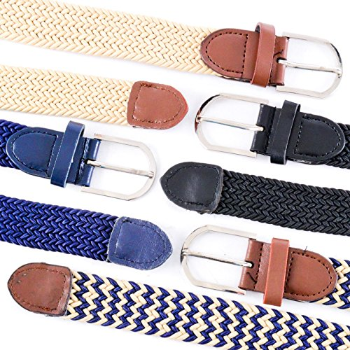set-of-4-mens-elasticated-braided-stretch-belts-fabric-woven-webbed-belts-for-any-waist-size-up-to-4