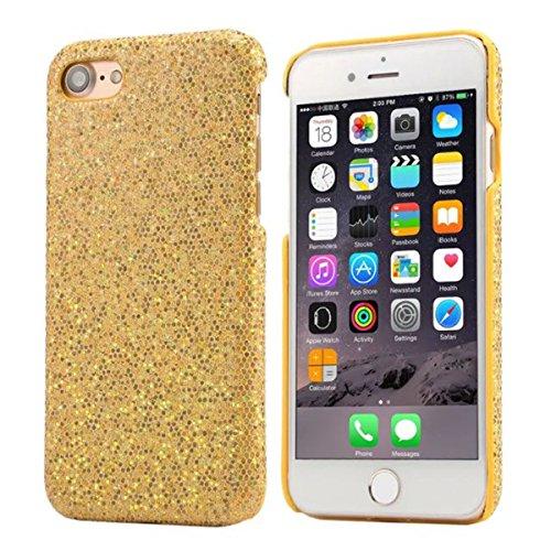 """iPhone 7 Plus Coque Dur Case Fine Mince Style Poids léger, Etui Apple iPhone 7 Plus 5.5"""", Élégant Briller Poudre Quatrième de couverture Anti Choc Housse de Protection pour iPhone 7 Plus Or"""