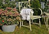 Gartenstuhl Metall Vintage Retro Landhaus shabby weiss Gartensessel Vögel