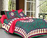 SheetKart Floral Double Bedsheet With 2 ...