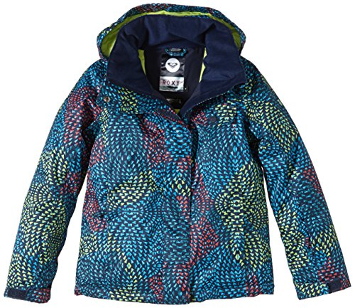 Roxy Jetty Girl Jacket giacca da snowboard, Bambina, Snowboard Jacke Jetty Girl Jacket, Modern Moroccan_Peacoat, 14