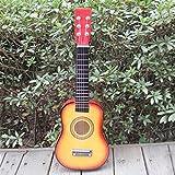 E Support TM enfants Guitare acoustique classique 58,4cm SUNBURST Guitare jouet pour enfant avec médiator avec 6cordes