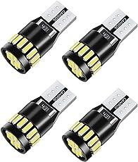 Qhui LED Standlicht T10 Auto Innenbeleuchtung Kennzeichenbeleuchtung,21 x 4014 SMD Canbus 2.5W 12V Hohe Qualität LED Auto Licht Lamp 4 PCS